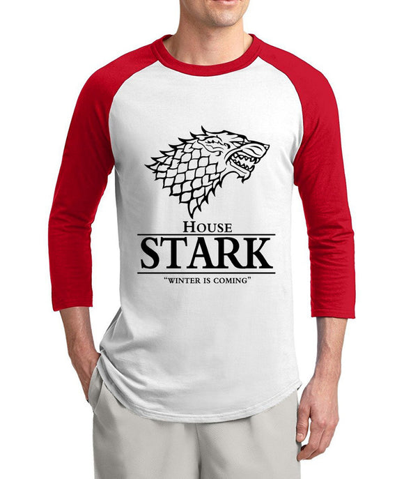 Mens House Stark 3/4 Sleeve Raglan Tee