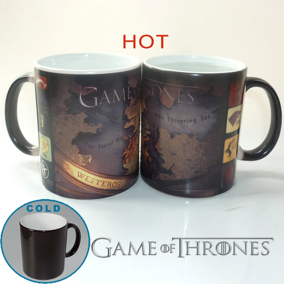 Game of Thrones Westeros Map Heat Activated Mug