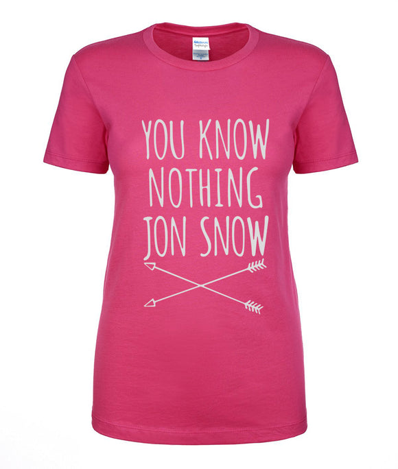 Game of Thrones You Know Nothing Jon Snow Tee