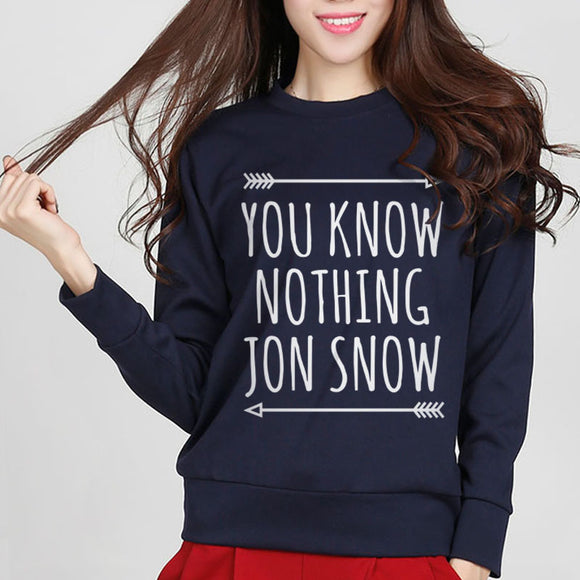Womens You Know Nothing Jon Snow  Sweater