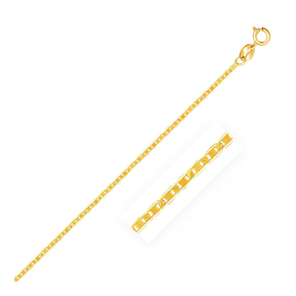 10k Yellow Gold Mariner Link Anklet 1.2mm