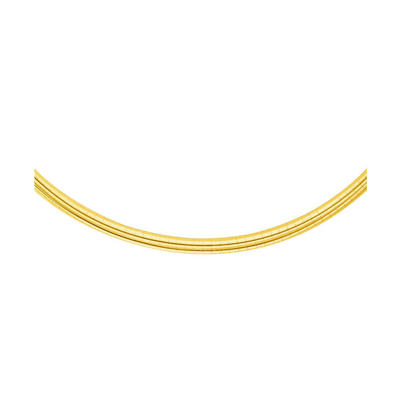 14k Yellow Gold Chain in a Classic Omega Design (4 mm)