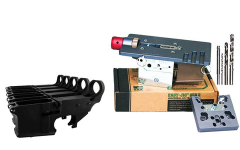 80% Lower Fire/Safe Marked (5-pack) with Easy Jig Gen 2 (80% Lower Jig) with Tooling - 5.56/AR-9