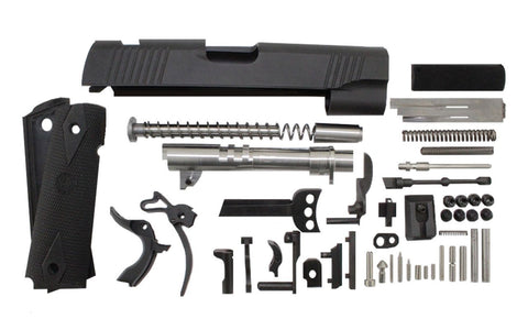 "9mm / 4.25"" Commander Anodized Black Slide 1911 Parts Kit"