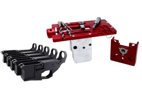 Modulus Arms Router Jig Extreme for AR-15 / AR-9 / LR-308 with Premium 80% Lower Fire/Safe Marked Billet (5-pack)