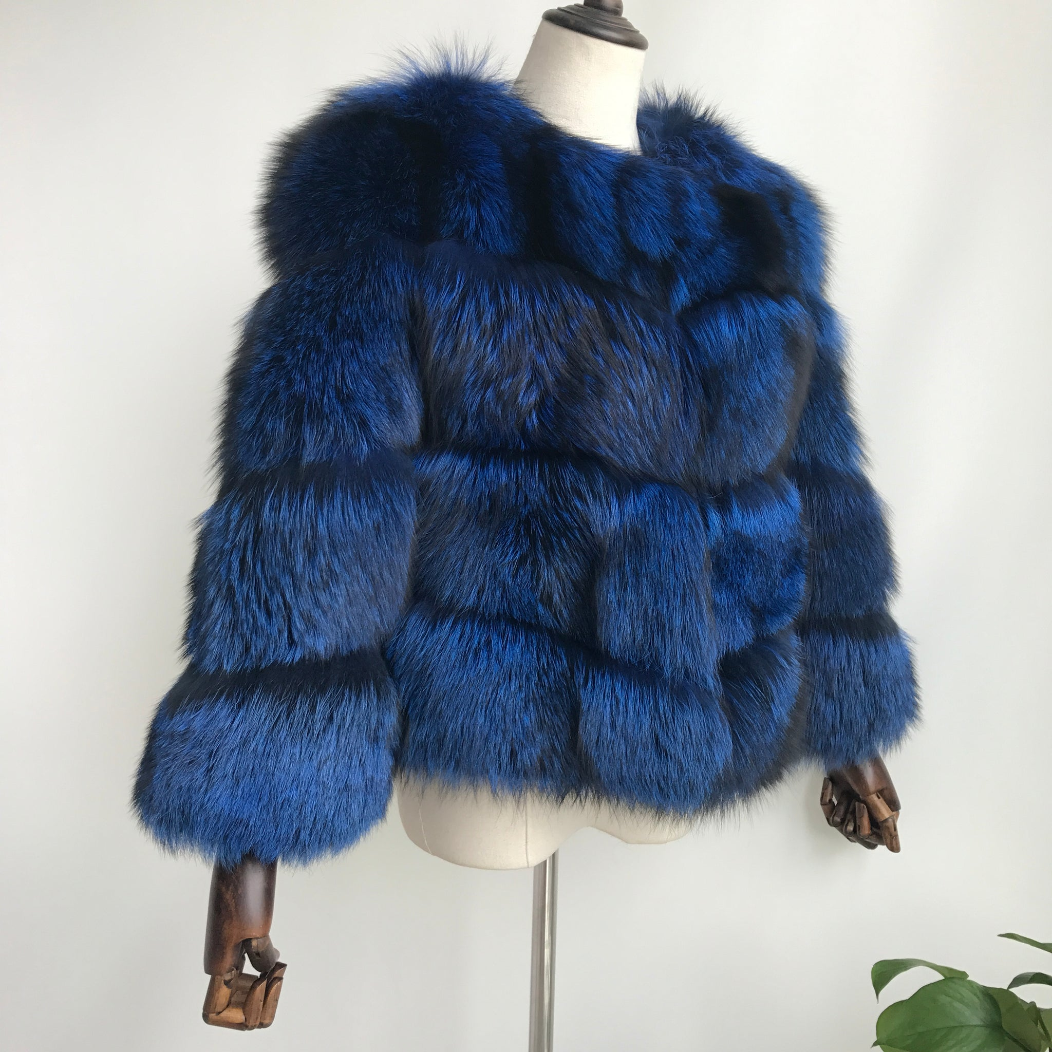 """Bianca"" Silver Fox Fur Jacket"