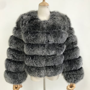 """Frosted Pearl"" Fox Fur Jacket"