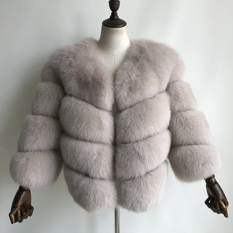 """Stone Louna"" Fox Fur Jacket"