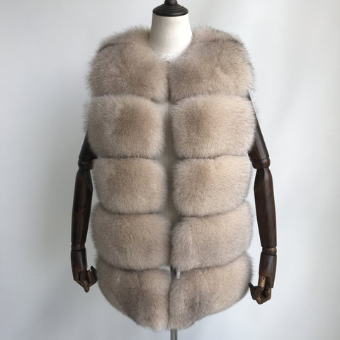 """Beige Lilly"" Fox Fur Vest"