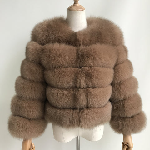 """Camel Pearl"" Fox Fur Jacket"
