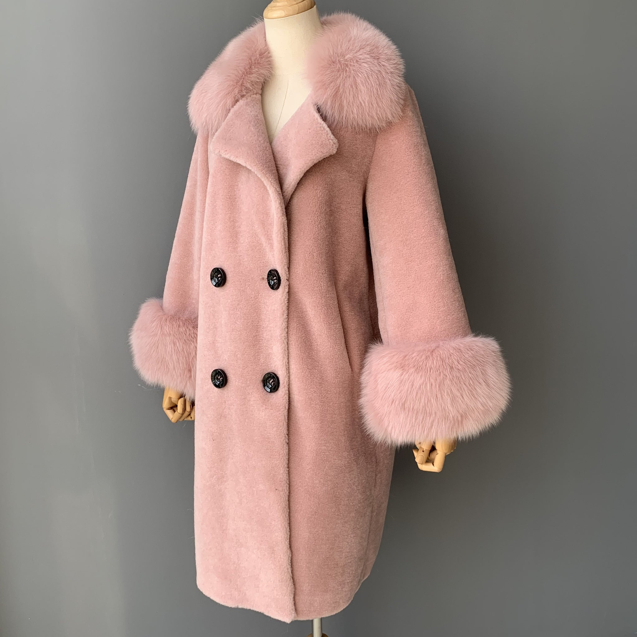"""Peach Kennedy"" Wool Trench Coat"