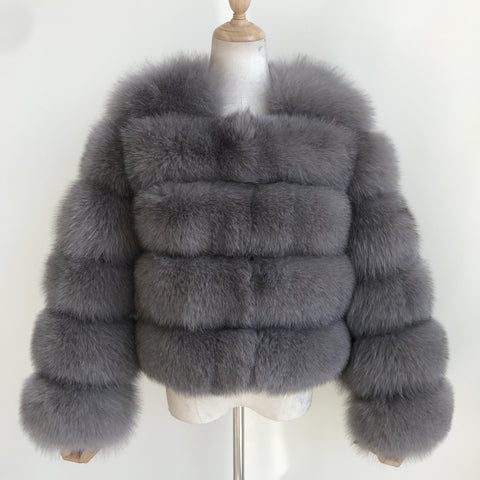 """Ash Pearl"" Fox Fur Jacket"