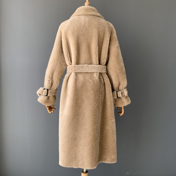 """Ines"" Wool Trench Coat"