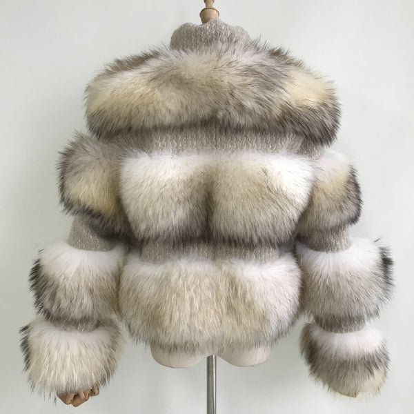 """Cream Virgine"" Fox Fur Jacket"