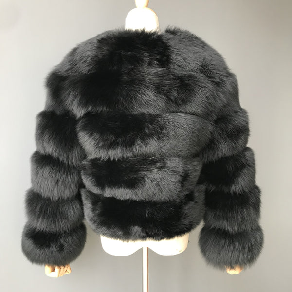 """Black Pearl"" Fox Fur Jacket"