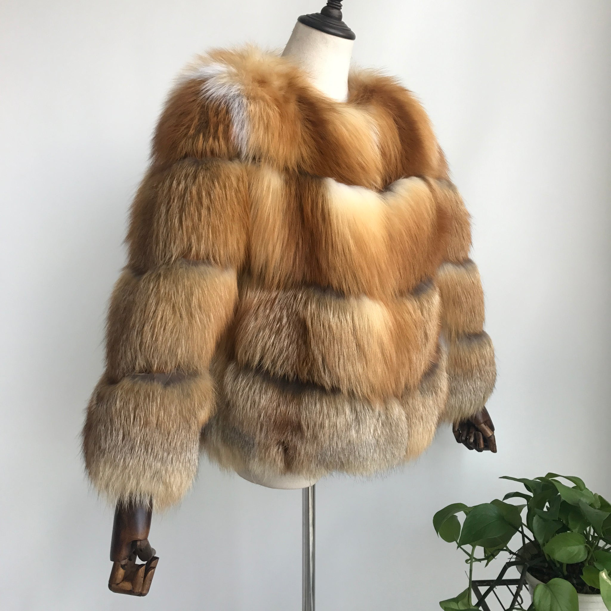 """Bruna"" Red Fox Fur Jacket"