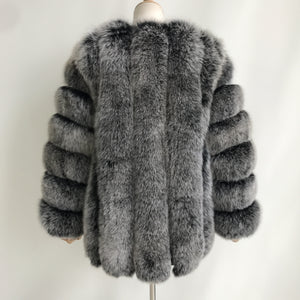 """Frosted Grace"" Fur Coat"