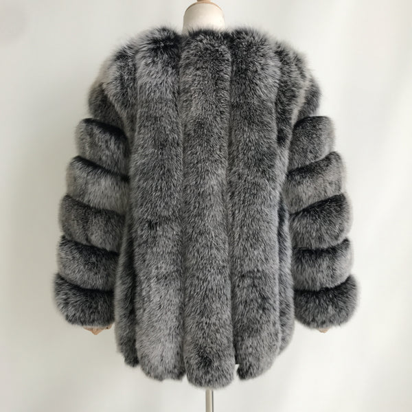 """Frosted Grace"" Fox Fur Coat"