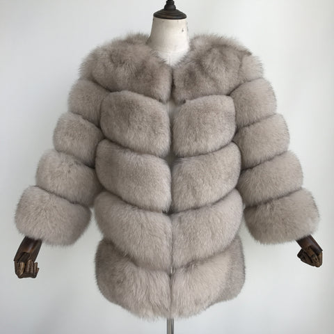 """Stone Louna"" Fox Fur Coat"