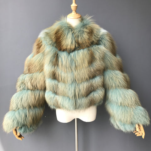 """Aqua Oceanne"" Fox Fur Jacket"