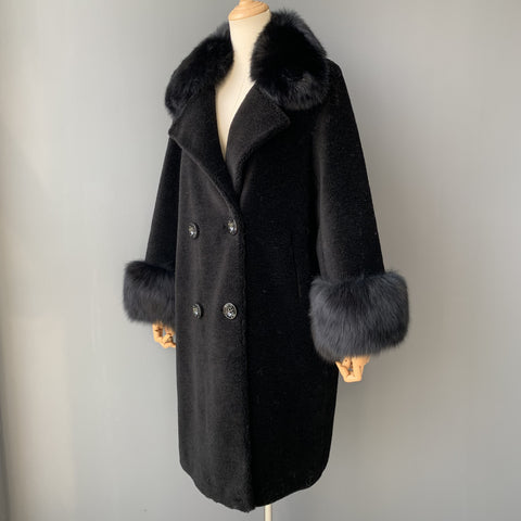 """Black Kennedy"" Wool Trench Coat"