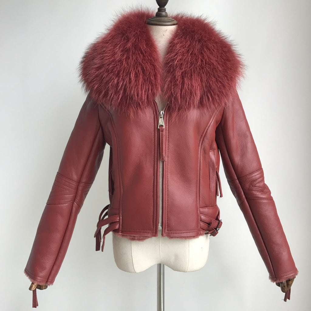 """Cherry Nightrider"" Lambskin Jacket"