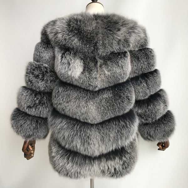 """Frosted Louna"" Fox Fur Coat"