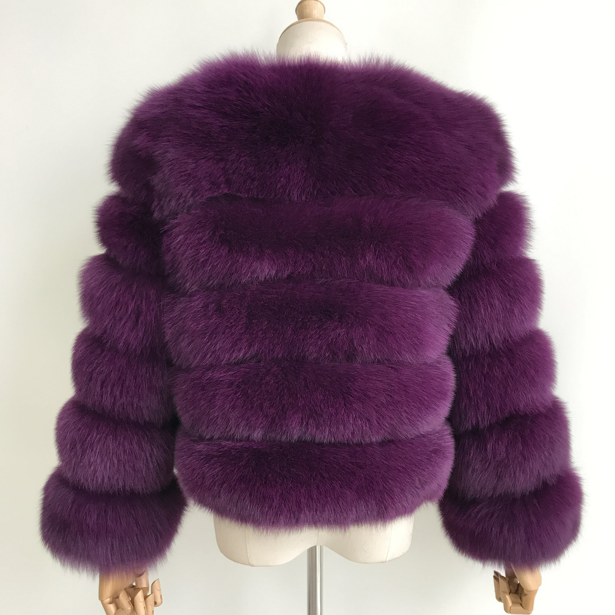 """Purple Pearl"" Fox Fur Jacket"