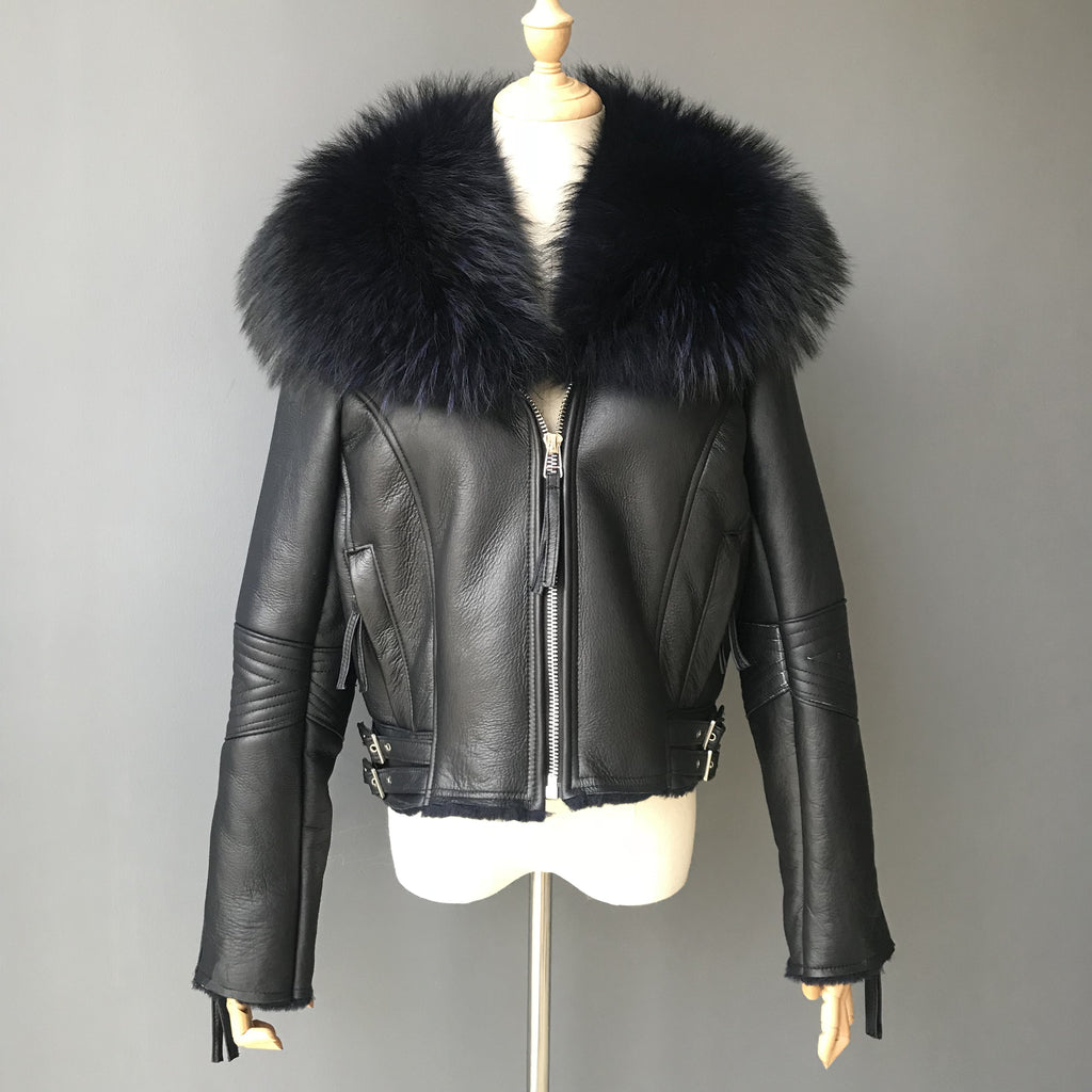 """Black Nightrider"" Lambskin Jacket"