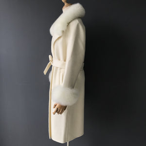 """Cream Diana"" Cashmere Coat"