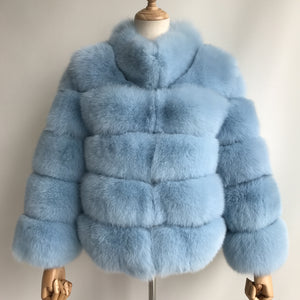"""Baby Blue Lucia"" Fox Fur Coat"