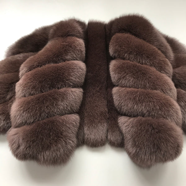 """Brown Luisa"" Fox Fur Jacket"