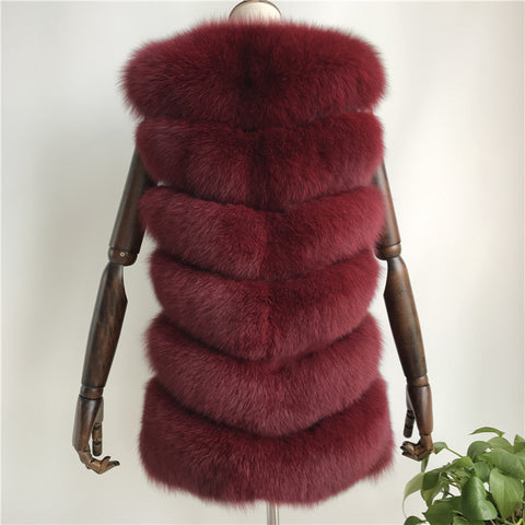 """Cherry Louna"" Short Fox Fur Vest"
