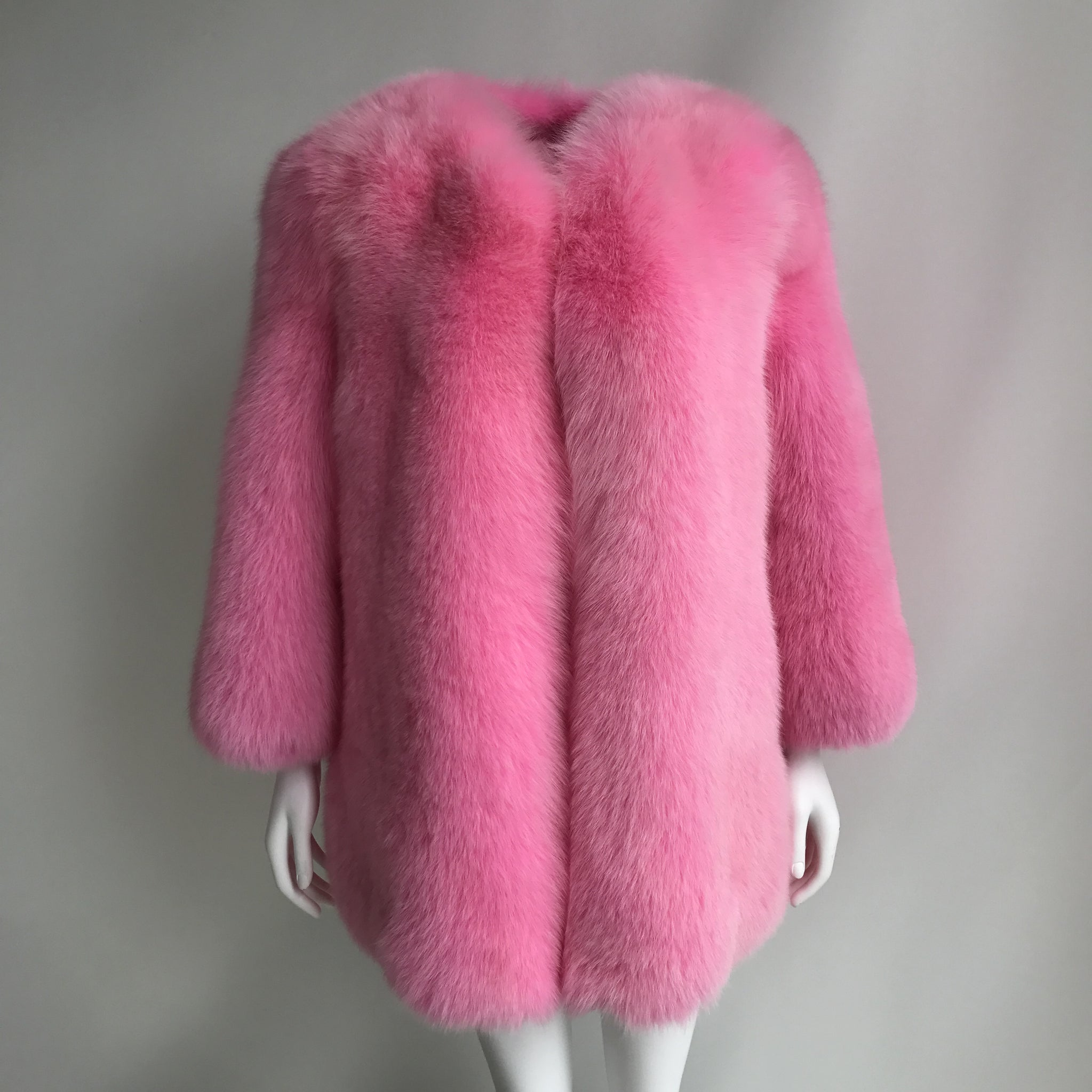 """Pink Gaelle"" Fox Fur Coat"