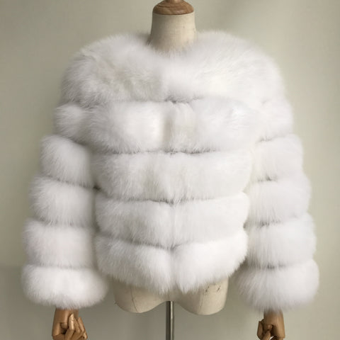 """Polar Pearl"" Fox Fur Jacket"