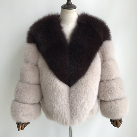 """Estelle"" Fox Fur Jacket"