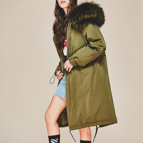 """Fur Trimmed"" Down Parka"