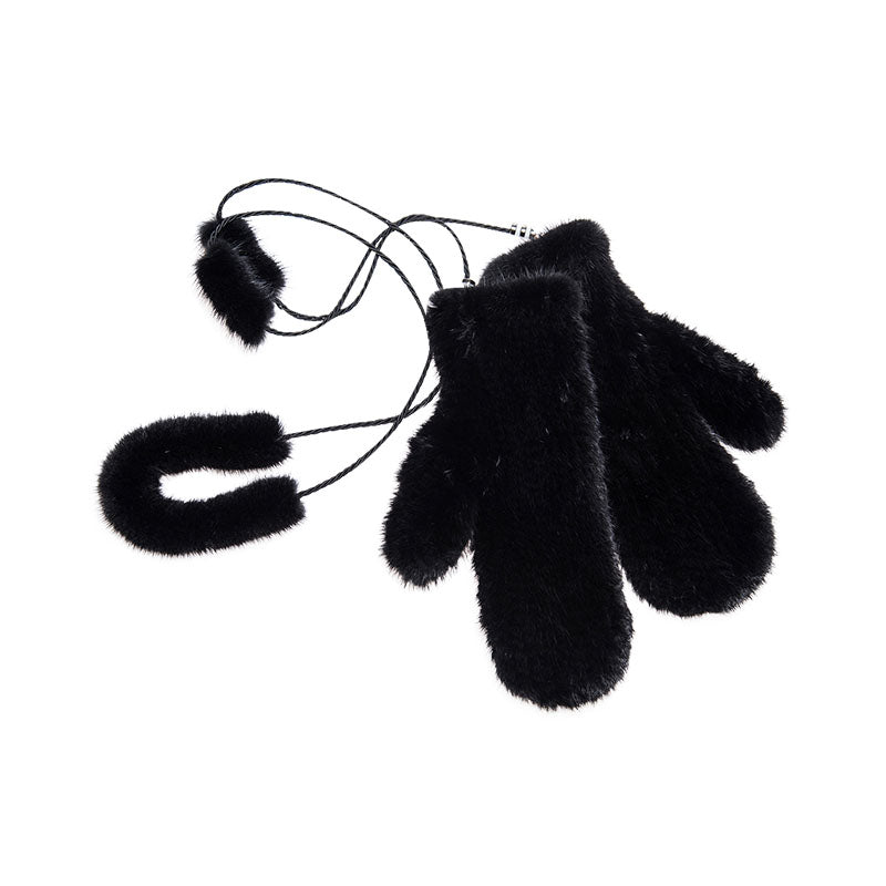 Knitted Mink Fur Gloves - Accessories - Furreal Fabrics