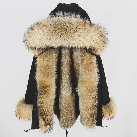 "Long XXL ""Fox"" Fur Parka"