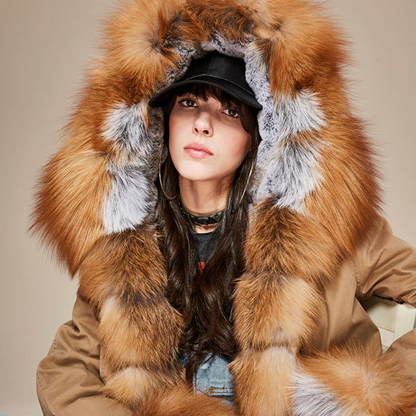 "Short XXL ""Fox"" Fur Parka"
