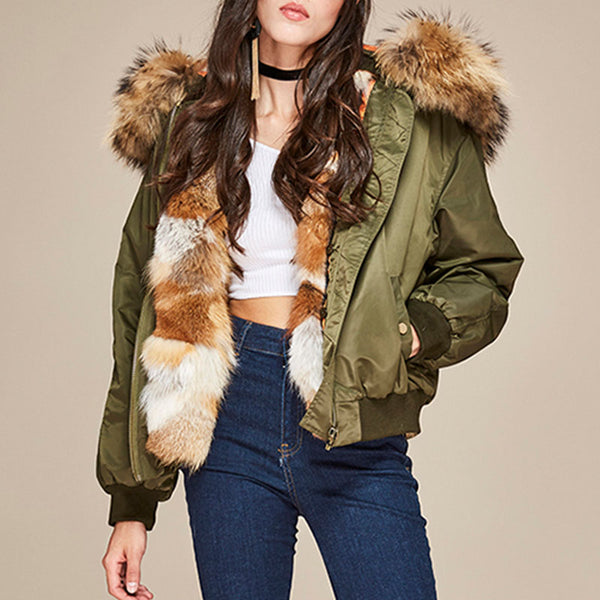 "XXL ""Fox"" Fur Bomber"