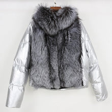 "Silver Fox ""Full Fur Balloon"" Bomber Jacket"