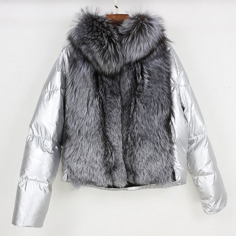 """Gaelle"" Silver Fox Fur"