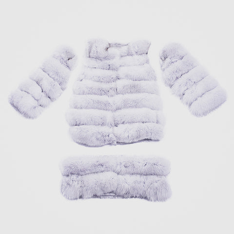 """White Transformer"" Fox Fur Coat"