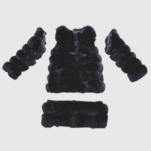 """Black Transformer"" Fur Coat"