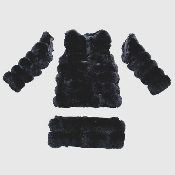 """Black Transformer"" Fox Fur Coat"