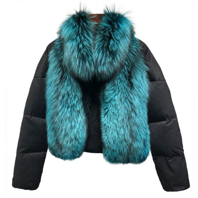 """Gaelle"" Fox Fur Bomber"