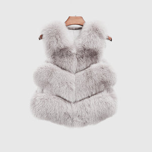"""White Violet"" Fox Fur Vest"