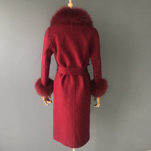 """Cherry Diana"" Cashmere Coat"