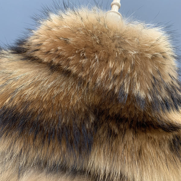 """Fabienne"" Coon Fur Coat"